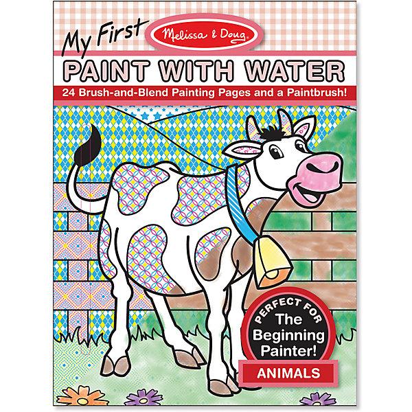 Водные раскраски ЖивотныеВодные раскраски<br>Думаете, как порадовать ребенка? Такой набор для рисования водой - это отличный вариант подарка ребенку, который одновременно и развлечет малыша, и позволит ему развивать важные навыки. Такой вариант раскрашивания способствует развитию у малышей мелкой моторики, цветовосприятия, художественного вкуса, внимания и воображения. <br>Набор состоит из черно-белых рисунков, по которым достаточно провести мокрой кистью, чтобы они стали цветными. Но делать это нужно аккуратно. Набор отличается удобной упаковкой, простотой использования и отличным качеством исполнения. <br><br>Дополнительная информация:<br><br>комплектация: 24 листа, кисточка;<br>размер: 290 х 210 х 10 мм;<br>материал: бумага.<br><br>Водные раскраски Животные от бренда Melissa&amp;Doug можно купить в нашем магазине.<br>Ширина мм: 210; Глубина мм: 10; Высота мм: 280; Вес г: 227; Возраст от месяцев: 36; Возраст до месяцев: 60; Пол: Унисекс; Возраст: Детский; SKU: 4993706;