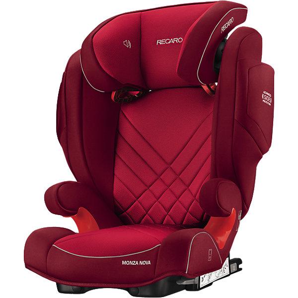 Автокресло RECARO Monza Nova 2 SF, 15-36 кг, indy redГруппа 2-3  (от 15 до 36 кг)<br>Автокресло Recaro Monza Nova 2 SF:<br><br>Характеристики:<br><br>• группа: 2-3;<br>• вес ребенка: 15-36 кг;<br>• возраст ребенка: от 3 до 12 лет;<br>• способ установки: по ходу движения;<br>• способ крепления: система Isofix;<br>• материал: пластик, полиэстер;<br>• размер автокресла: 74х48х62 см;<br>• вес автокресла: 6,7 кг;<br>• вес в упаковке: 8 кг.<br><br>Особенности автокресла Monza Nova 2 SF: <br><br>• регулируемая глубина подголовника, <br>• регулируемая высота подголовника – 11 положений, <br>• усиленная боковая защита, <br>• интегрированные динамики: воспроизведения колыбельных, звуков природы, аудиосказок,<br>• провод для подключения плеера к динамикам в комплекте,<br>• сетчатый кармашек для MP3-плеера.<br><br>Автокресло Monza Nova 2 SF устанавливается на заднем сидении автомобиля с помощью системы Изофикс. Выдвижные крепления кресла совмещаются с системой Изофикс в автомобиле. Обивка автокресла выполнена из дышащего материала, который не впитывает посторонние запахи. Автокресло оснащено вентиляционными отверстиями для циркуляции воздуха и регуляции теплообмена. <br><br>Комплектация: <br><br>• автокресло Monza Nova 2 SF группы II/III;<br>• стерео динамики, встроенные в подголовник;<br>• провод для подключения воспроизводящего устройства к динамикам.<br><br>Автокресло Monza Nova 2 SF, 15-36 кг, Recaro, indy red можно купить в нашем магазине.<br>Ширина мм: 730; Глубина мм: 540; Высота мм: 460; Вес г: 7490; Цвет: красный; Возраст от месяцев: 36; Возраст до месяцев: 144; Пол: Унисекс; Возраст: Детский; SKU: 4999091;