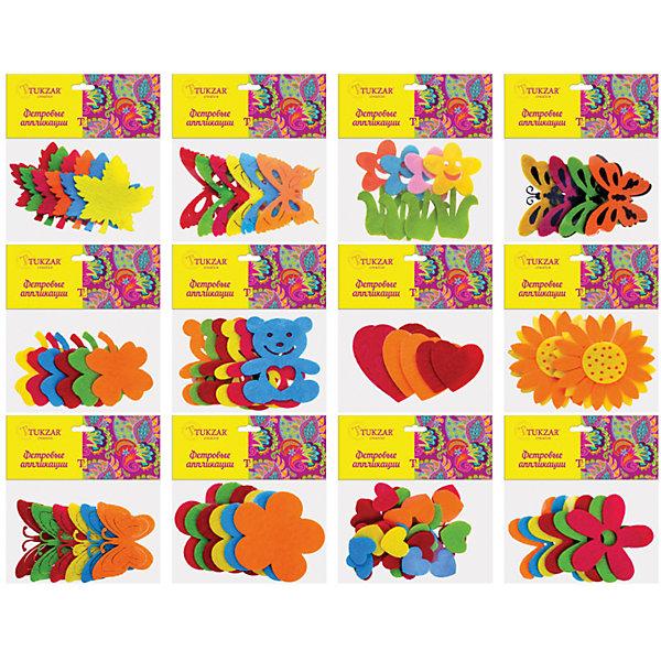 Фетровые аппликации 12*10 см, (12 дизайнов в ассортименте), TUKZAR, Китай, Унисекс  - купить со скидкой