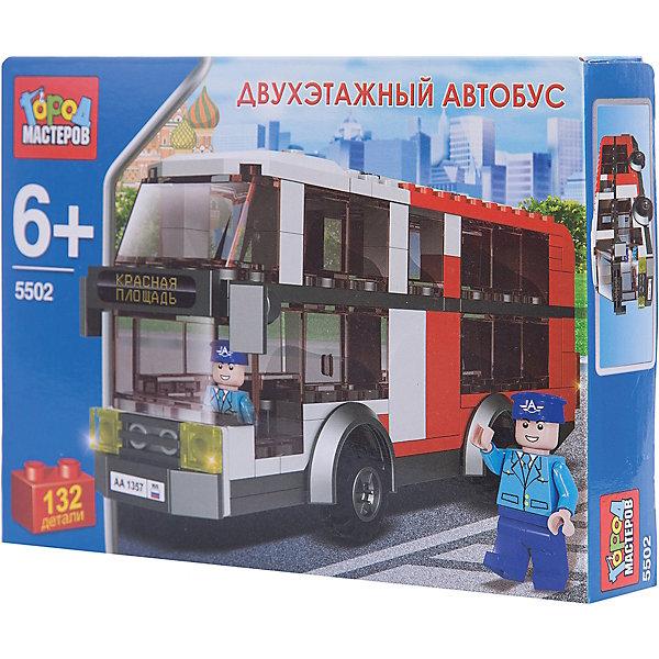 Конструктор Двухэтажный автобус, 132 детали, Город МастеровПластмассовые конструкторы<br>Конструкторы могут не только развлекать малыша, но и помогать его всестороннему развитию. Этот набор предназначен для формирования разных навыков, он помогает развить тактильное восприятие, мелкую моторику, воображение, внимание и логику.<br>Изделие представляет собой набор: 132 детали, из которых можно сделать автобус. Он выглядит почти как настоящий! С такой игрушкой можно придумать множество игр! Изделие произведено из качественных материалов, безопасных для ребенка.<br><br>Дополнительная информация:<br><br>цвет: разноцветный;<br>материал: пластик;<br>комплектация: 132 детали;<br>размер упаковки: 40 x 150 x 190 мм.<br><br>Конструктор Двухэтажный автобус, 132 детали, от бренда Город Мастеров можно купить в нашем магазине.<br>Ширина мм: 40; Глубина мм: 190; Высота мм: 150; Вес г: 210; Возраст от месяцев: 36; Возраст до месяцев: 2147483647; Пол: Мужской; Возраст: Детский; SKU: 5002213;