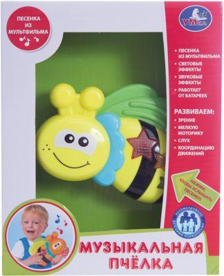 Умка Музыкальная игрушка Пчелка, Умка каталка игрушка умка лошадка b876678 r со звуковыми эффектами желтый