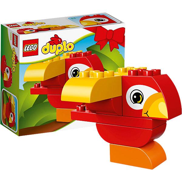 LEGO DUPLO 10852: Моя первая птичкаКонструкторы Лего<br>LEGO DUPLO 10852: Моя первая птичка<br><br>Характеристики:<br><br>- в набор входит: детали птички, инструкция<br>- состав: пластик<br>- количество деталей: 7<br>- размер коробки: 15 * 1,5 * 6 см.<br>- для детей в возрасте: от 1,5 до 3 лет<br>- Страна производитель: Дания/Китай/Чехия/<br><br>Легендарный конструктор LEGO (ЛЕГО) представляет серию «DUPLO» (Д?пло) для самых маленьких. Крупные детали безопасны для малышей, а интересная тематика, возможность фантазировать, собирать из конструктора свои фигуры и играть в него приведут кроху в восторг! Этот небольшой набор сразу и игрушка и конструктор. Яркие и отлично детализированные детали выполнены из очень качественного пластика. Ребенок сможет собирать из них райских птичек, располагая крылья и хохолок по-разному. Детали набора подходят ко всем другим наборам серии DUPLO. Играя с этим конструктором ребенок сможет развить внимание, память, моторику ручек, а также творческие способности. <br><br>Конструктор  LEGO DUPLO 10852: Моя первая птичка можно купить в нашем интернет-магазине.<br>Ширина мм: 159; Глубина мм: 139; Высота мм: 63; Вес г: 128; Возраст от месяцев: 12; Возраст до месяцев: 36; Пол: Унисекс; Возраст: Детский; SKU: 5002408;