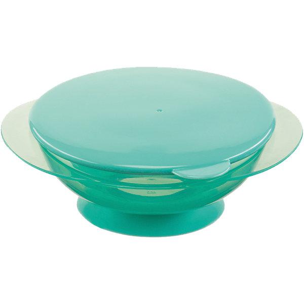 Тарелка на присоске с крышкой FEEDING BOWL, Happy Baby, ментоловыйДетская посуда<br>Удобная тарелка на присоске станет незаменимым помощником во время кормления. Тарелка прочно крепится к поверхности стола, исключая опрокидывание, практичная крышка не позволит пище остыть.  Пластиковая посуда удобна и проста в использовании, она не бьется, поэтому идеально подходит для кормления малышей. Тарелка Feedin Bowl выполнена из высококачественных экологичных материалов абсолютно безопасных для детей. <br><br> В товар входит:<br>-тарелка<br>-крышка<br><br>Дополнительная информация:<br><br>- Материал: полипропилен, термопластичный эластомер<br>- Размер: 7х17х15 см. <br>- Герметичная крышка.<br>- Нескользящее дно с присоской.<br>- Удобные ручки.<br>- Не подходит для использования в СВЧ.<br>-Цвет: ментоловый<br>-Бренд: Happy Baby (Хеппи Беби)<br><br>Тарелку на присоске с крышкой FEEDING BOWL, Happy Baby (Хеппи Беби), можно купить в нашем магазине.<br>Ширина мм: 65; Глубина мм: 170; Высота мм: 205; Вес г: 106; Возраст от месяцев: 8; Возраст до месяцев: 36; Пол: Унисекс; Возраст: Детский; SKU: 5003644;