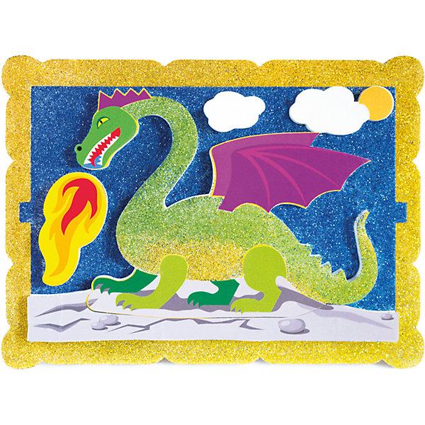 Набор для творчества Волшебный дракон PicnMixАппликации из бумаги<br>Набор для творчества Волшебный дракон -это объёмная красочная картина-аппликация, которая помогает тренировать зрительную память координацию движений и способствует развитию мелкой мотрики рук.<br>Ширина мм: 21; Глубина мм: 16; Высота мм: 5; Вес г: 140; Возраст от месяцев: 36; Возраст до месяцев: 120; Пол: Унисекс; Возраст: Детский; SKU: 5007393;