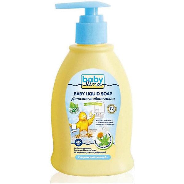 Babyline Детское жидкое мыло 250 мл. с дозатором, BABYLINE