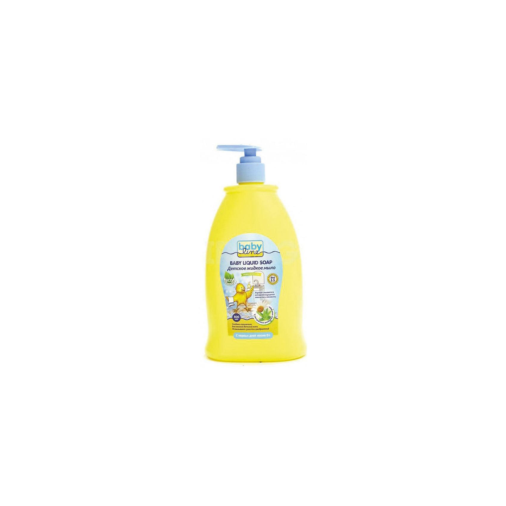 Детское жидкое мыло 500 мл. с дозатором, BABYLINE