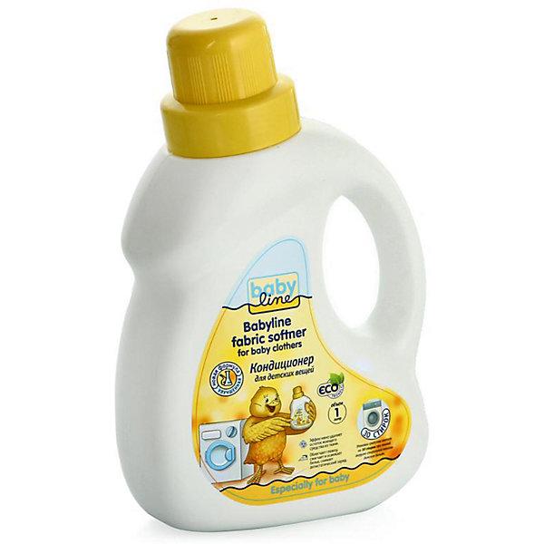 Кондиционер для стирки детских вещей 1 л (30 стирок), BABYLINEДетская бытовая химия<br>Кондиционер для стирки детских вещей BabyLine(Бэби Лайн) подойдет для автоматической и ручной стирки, для всех видов тканей. Кондиционер защищает волокна ткани, удаляет остатки моющего средства и неприятные запахи, обладает антистатическим эффектом и облегчает глажку. Стирка с этим кондиционером обеспечит малышу комфорт при ношении одежды.<br><br>Дополнительная информация:<br>Объем: 1000 мл<br>Возраст: с рождения<br>Хватает на 30 стирок<br><br>Кондиционер для стирки детских вещей BabyLine(Бэби Лайн) вы можете купить в нашем интернет-магазине.<br>Ширина мм: 146; Глубина мм: 76; Высота мм: 235; Вес г: 1180; Возраст от месяцев: 0; Возраст до месяцев: 36; Пол: Унисекс; Возраст: Детский; SKU: 5007655;