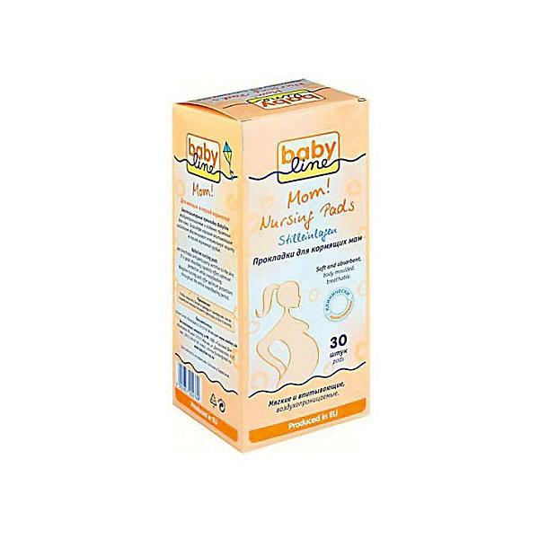 Babyline Прокладки для груди 30 шт, BABYLINE пелигрин набор медицинского белья из нетканых материалов прокладки для груди 20 шт