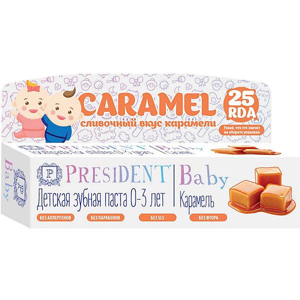 Купить Зубная паста President Baby Карамель, 0-3 лет, 30 мл, Италия, Унисекс