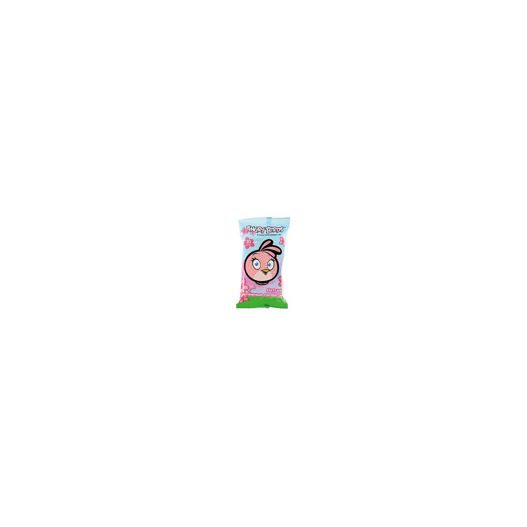 Влажные детские салфетки (девочка, мальчик), 20шт., Angry Birds