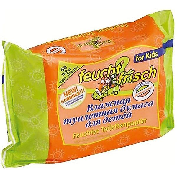 Feucht Frisch Детская влажная туалетная бумага Feucht Frisch (зап. блок), Feucht Frisch туалетная бумага regina деликатис