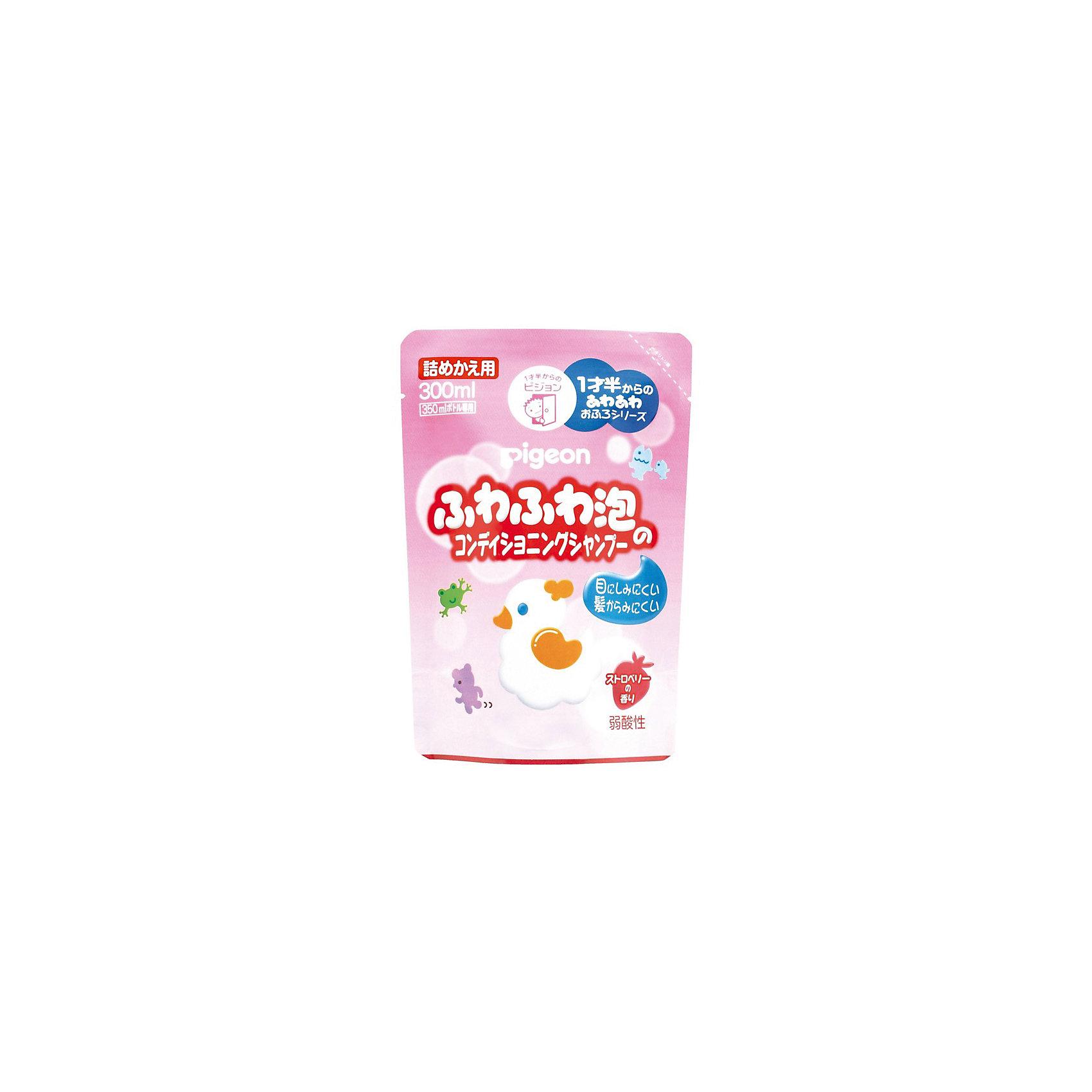 Шампунь-пенка для детей 18+ мес, сменный блок 300 мл, Pigeon