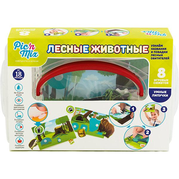 Игра Лесные животные, PicnMixОзнакомление с окружающим миром<br>Игра Лесные животные - пазл-липучка от PicnMix. В процессе игры ребенку предстоит наклеить нужные элементы на соответствующие карточки и изучить названия и повадки животных. Эта игра отлично развивает память, мелкую моторику, цветовое восприятие и кругозор. С игрой Лесные животные от PicnMix ваш малыш проведет время с пользой!<br><br>Дополнительная информация:<br>Количество элементов: 40 шт<br>Материал: полипропилен<br>Размер упаковки: 24х16х5 см<br>Вес: 375 грамм<br><br>Игру Лесные животные от PicnMix можно приобрести в нашем интернет-магазине.<br>Ширина мм: 250; Глубина мм: 55; Высота мм: 160; Вес г: 337; Возраст от месяцев: 18; Возраст до месяцев: 36; Пол: Унисекс; Возраст: Детский; SKU: 5008789;