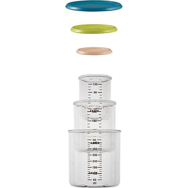 Набор контейнеров для хранения, 3шт., BeabaДетская посуда<br>Набор контейнеров для хранения от знаменитого французского бренда товаров для детей Beaba (Беаба). Этот симпатичный и эргономичный набор состоит из трех отдельных контейнеров с крышечками. Контейнеры представлены в трех размерах и складываются один в другой, экономя пространство хранения. Эти контейнеры можно использовать для разогрева пищи в микроволновой печи и заморозке в морозильной камере. Также контейнеры отлично подходят к системе Babycook от Beaba (Беаба). Цветные крышки герметично закрываются не пропуская воздух, а специальная поверхность позволяет делать на них надписи маркерами для белых досок и при необходимости стирать их и писать новые. Прекрасный выбор для малышей, ведь они достойны самого лучшего!<br>Дополнительная информация:<br><br>- Состав: пластик<br>- Размер: 120, 240, 420 мл.<br>- Можно мыть в посудомоечной машине или стерилизовать <br>- Можно использовать в микроволновой печи      <br><br>Набор контейнеров для хранения, Beaba (Беаба) можно купить в нашем интернет-магазине.<br>Подробнее:<br>• Для детей в возрасте: от 0 месяцев<br>• Номер товара: 5010895<br>Страна производитель: Китай<br>Ширина мм: 105; Глубина мм: 105; Высота мм: 220; Вес г: 330; Возраст от месяцев: 6; Возраст до месяцев: 24; Пол: Унисекс; Возраст: Детский; SKU: 5010895;