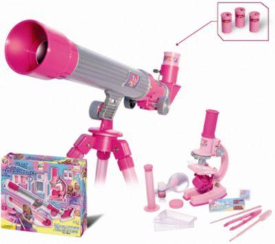 Телескоп и микроскоп для девочек (35 предметов), Eastcolight, артикул:5011466 - Оптические приборы