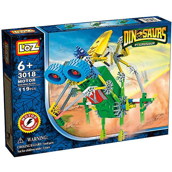 Электромеханический конструктор IROBOT. Динозавр. Комарозавр, LozПластмассовые конструкторы<br>Электромеханический конструктор IROBOT. Динозавр. Комарозавр, Loz будет замечательным подарком для Вашего ребенка. С помощью моторчика робот уверенно передвигается . Такая игрушка хорошо влияет на развитие у ребенка мелкой моторики, логического мышления, внимательности и усидчивости. Конструкторы данной серии уникальны тем, что малыш может играть получившейся игрушкой. <br><br>Для работы моторчика нужны две батарейки типа АА (в комплект не входят). В набор входит 119 деталей конструктора и подробная инструкция.<br>Ширина мм: 50; Глубина мм: 185; Высота мм: 240; Вес г: 340; Возраст от месяцев: 72; Возраст до месяцев: 180; Пол: Мужской; Возраст: Детский; SKU: 5011478;