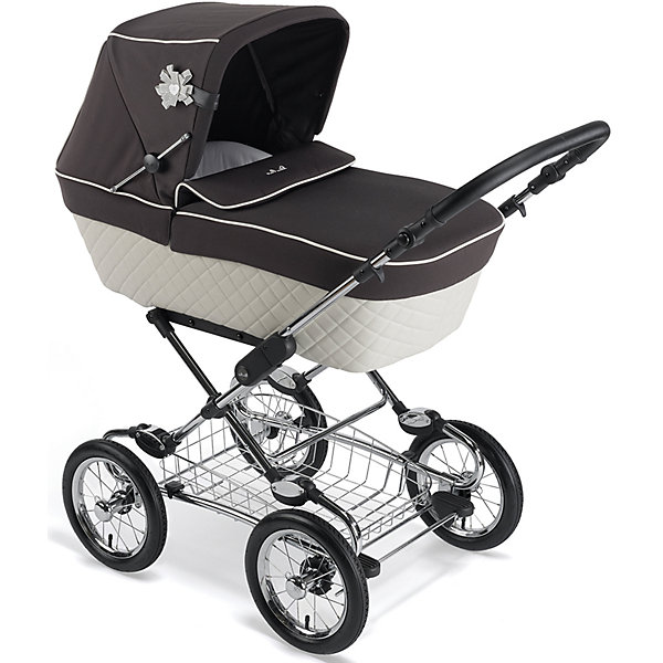 Silver Cross Коляска-трансформер Silver Cross Sleepover Elgegnce, black/cream коляска silver cross sleepover elegance cream with pram bag sx 311 cm