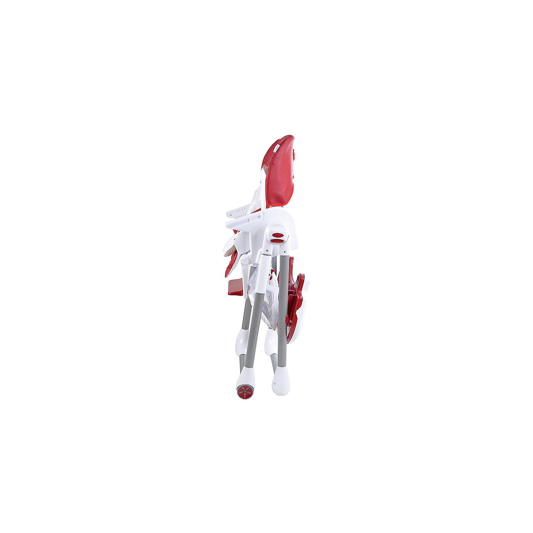 Стульчик для кормления ELCANTO, Pituso, ECO кожа, бордовый