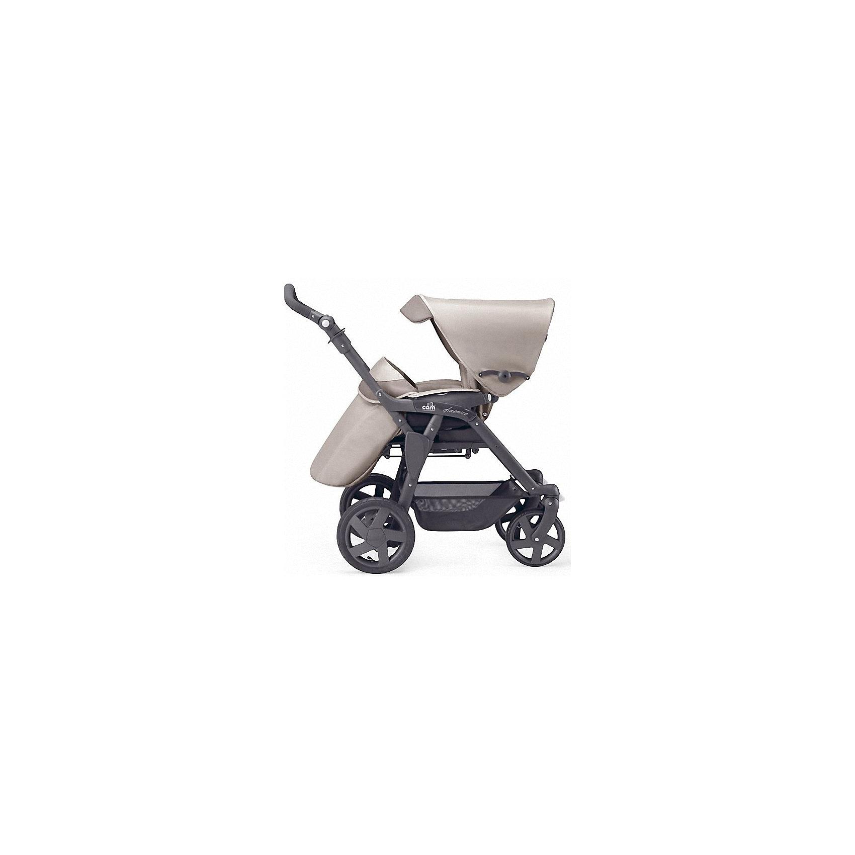 Прогулочная коляска Dinamico 4S, CAM, темный крем с серебристой окантовкой