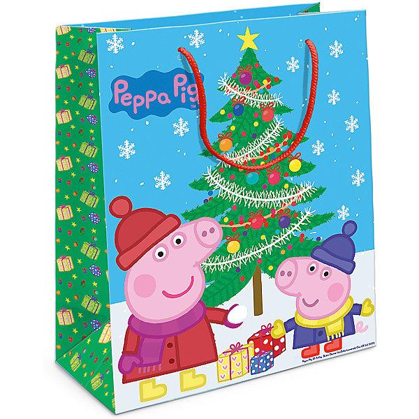 Пакет подарочный Пеппа и елка 230*180*100Детские подарочные пакеты<br>Порадуйте малыша новогодним подарком! А красивый подарочный пакет «Пеппа и ёлка» с забавными героями мультфильма «Свинка Пеппа» станет его эффектным дополнением. Размер бумажного подарочного пакета: 23х18х10 см.<br>Ширина мм: 230; Глубина мм: 180; Высота мм: 3; Вес г: 41; Возраст от месяцев: 36; Возраст до месяцев: 120; Пол: Унисекс; Возраст: Детский; SKU: 5016462;