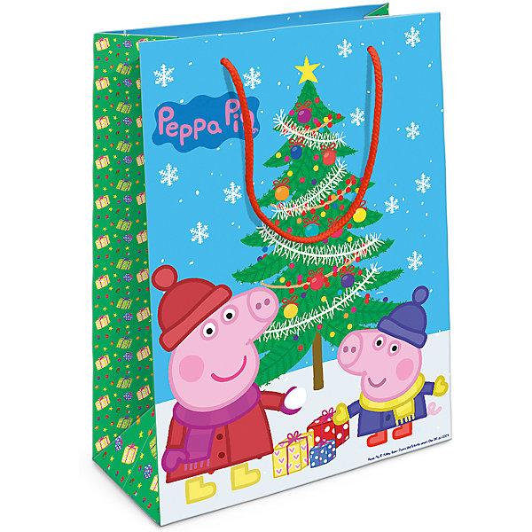 Пакет подарочный Пеппа и елка 350*250*90Детские подарочные пакеты<br>Порадуйте малыша новогодним подарком! А красивый подарочный пакет «Пеппа и ёлка» с забавными героями мультфильма «Свинка Пеппа» станет его эффектным дополнением. Размер бумажного подарочного пакета: 35х25х9 см.<br>Ширина мм: 350; Глубина мм: 250; Высота мм: 3; Вес г: 41; Возраст от месяцев: 36; Возраст до месяцев: 120; Пол: Унисекс; Возраст: Детский; SKU: 5016463;