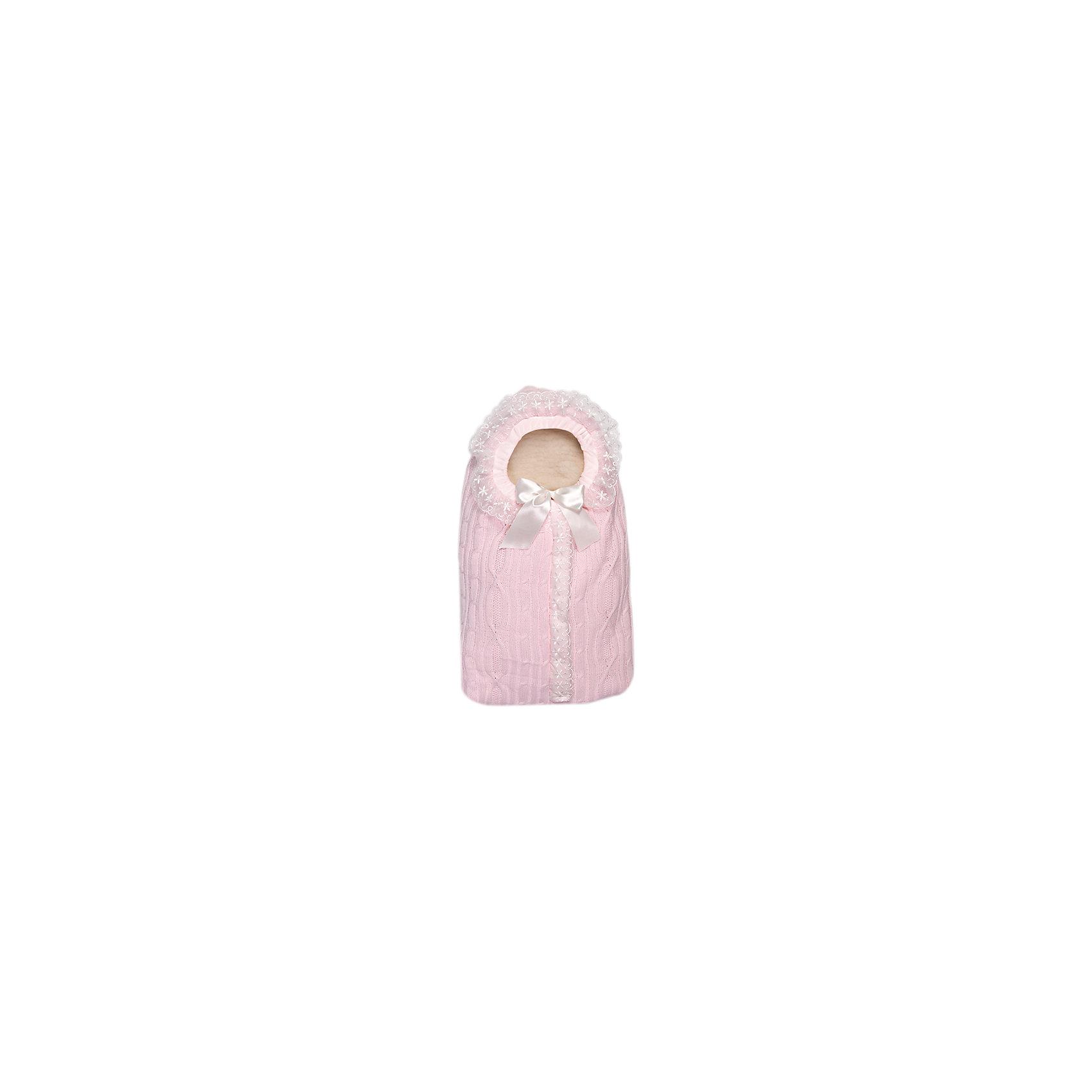 Конверт Зимняя радость, 1 молния, Сонный гномик, розовый