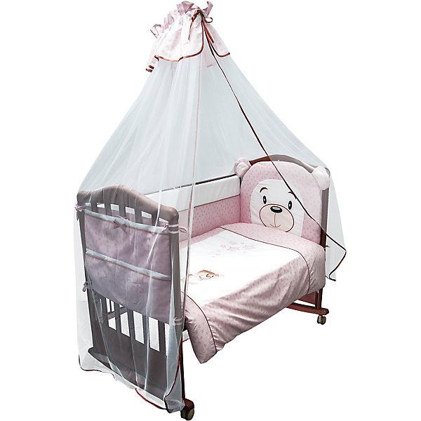 Сонный гномик Комплект в кроватку 6 предметов Сонный гномик, Умка, розовый борт в кроватку сонный гномик считалочка бежевый бсс 0358105 4