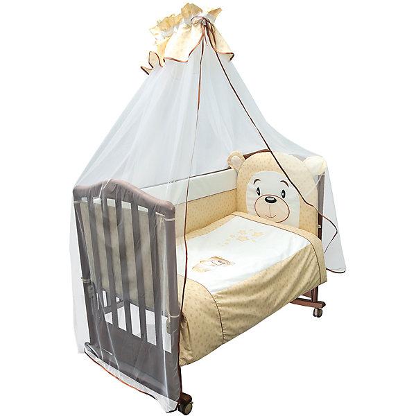 Сонный гномик Комплект в кроватку 6 предметов Сонный гномик, Умка, бежевый цена