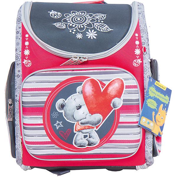 Silwerhof Ранец школьный, BEAR, 32х28х13см, 3 кармана kite kite ранец школьный каркасный popcorn bear голубой