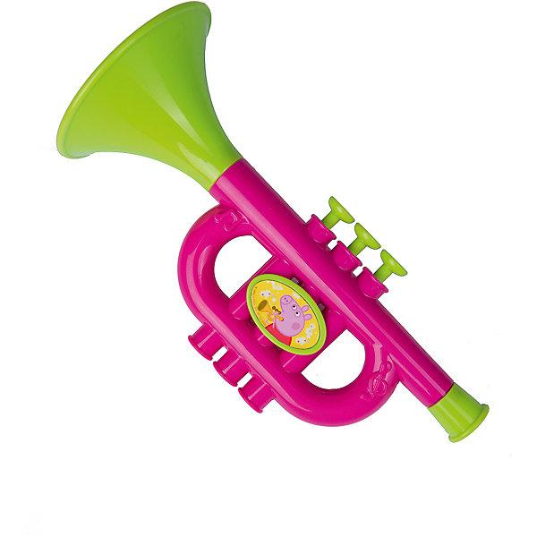 Музыкальная труба на блистере, Свинка ПеппаСвинка Пеппа<br>Яркая музыкальная труба прям как из мультфильма Свинка Пеппа!<br>Теперь Ваш малыш сможет устраивать импровизированные концерты дома в компании друзей.<br>Инструмент поможет ребенку проявить свои музыкальные таланты, развить слух и чувство ритма, а также мелкую моторику рук.<br><br>Дополнительная информация:<br><br>- Возраст: от 3 лет.<br>- Материал: пластик.<br>- Размер инструмента: 23х10х10 см.<br>- Размер упаковки: 32.4х19х10.5<br>- Вес в упаковке: 146 г.<br><br>Купить музыкальную трубу на блистере Свинка Пеппа можно в нашем магазине.<br>Ширина мм: 324; Глубина мм: 190; Высота мм: 105; Вес г: 146; Возраст от месяцев: 36; Возраст до месяцев: 2147483647; Пол: Унисекс; Возраст: Детский; SKU: 5026855;