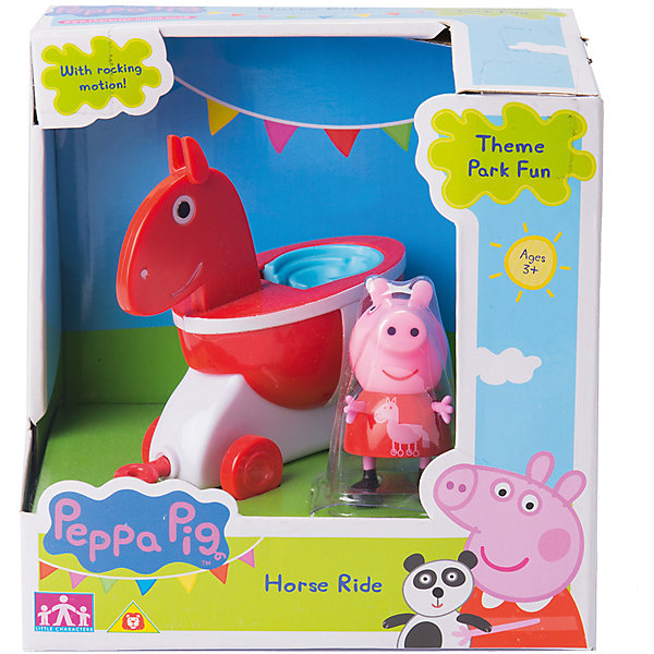Росмэн Игровой набор Каталка Лошадка, Свинка Пеппа росмэн мягкая игрушка пеппа с виноградом 20 см свинка пеппа