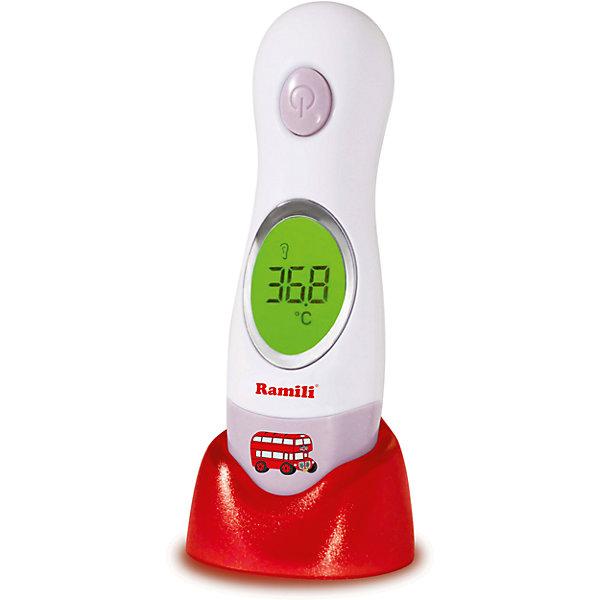 Инфракрасный ушной и лобный термометр ET3030 4 в 1, RamiliТермометры<br>Инфракрасный термометр на подставке позволяет измерить температуру у ребенка и взрослого и моментально получить результат – за 1 секунду. Эргономичная форма термометра для удобства использования, сочетание ушного и лобного термометра 2в1. Функция измерения комнатной температуры, есть часы – в режиме ожидания термометр выполняет дополнительные функции. <br><br>Особенности детского термометра:<br><br>• звуковой сигнал начала и завершения измерения;<br>• память: результат последнего измерения;<br>• подсветка LCD-дисплея;<br>• наличие подставки установки термометра в вертикальном положении;<br>• наличие жесткого футляра для хранения термометра;<br>• встроенный термометр для измерения комнатной температуры;<br>• настольные часы.<br><br>Дополнительная информация:<br><br>Размер упаковки: 20х7х5 см<br>Вес: 140 г<br><br>Комплектация:<br><br>• детский термометр Ramili;<br>• подставка;<br>• футляр;<br>• руководство по эксплуатации.<br><br>Инфракрасный ушной и лобный термометр ET3030 4 в 1, Ramili можно купить в нашем интернет-магазине.<br>Ширина мм: 150; Глубина мм: 50; Высота мм: 50; Вес г: 300; Возраст от месяцев: 0; Возраст до месяцев: 36; Пол: Унисекс; Возраст: Детский; SKU: 5028906;