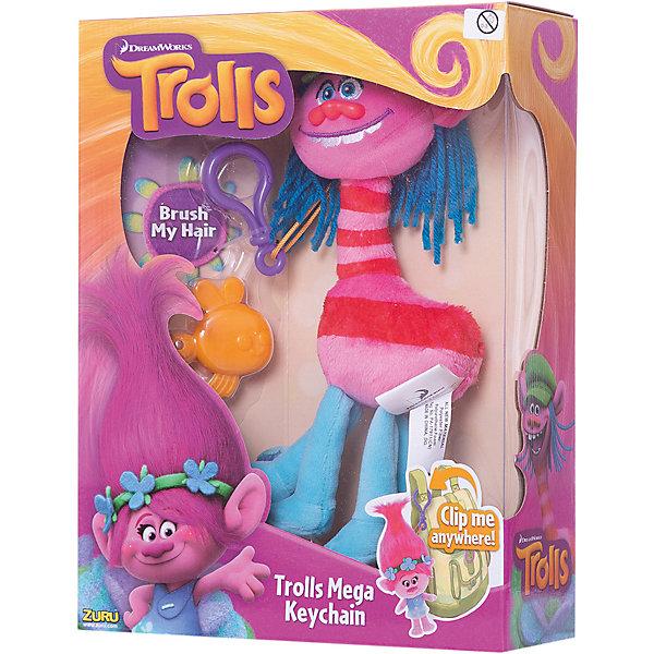 ZURU Мягкая игрушка Тролль, с расческой и карабином