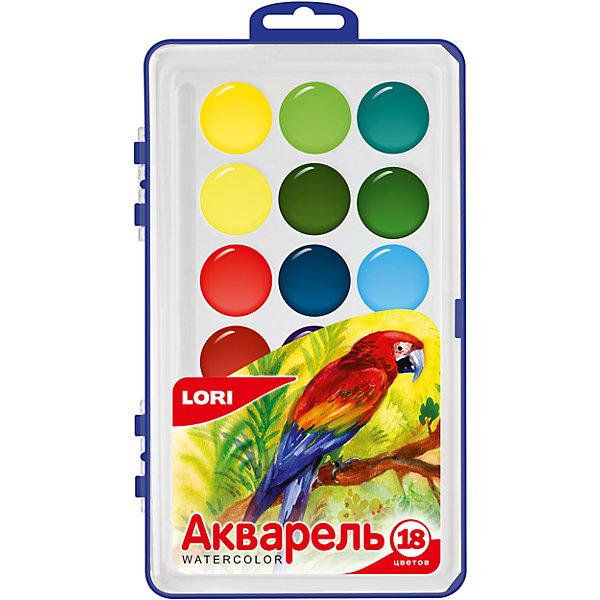 LORI Акварельная краска 18 цв.