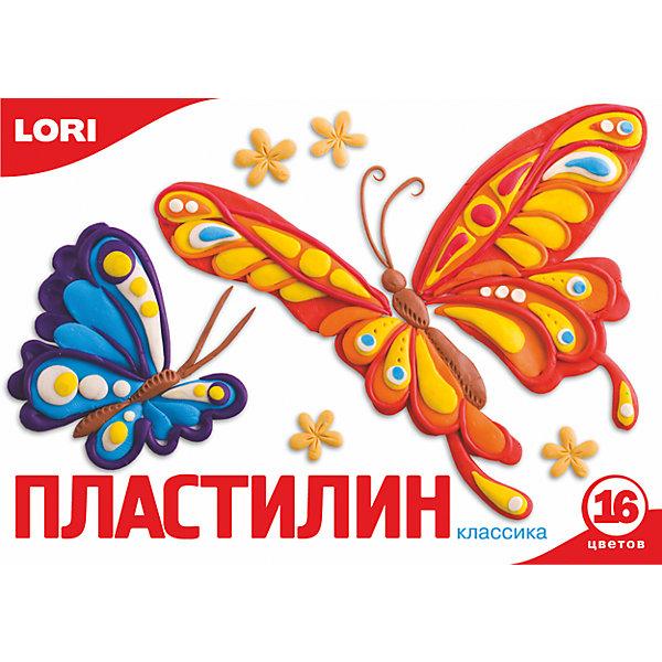 Пластилин «Классика» 16 цветов, 20 г LORI, Российская Федерация