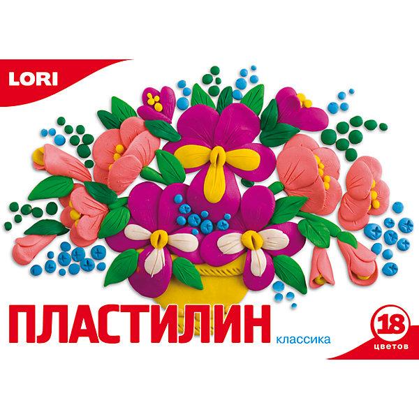 Пластилин «Классика»  18 цветов, 20 г LORI, Российская Федерация