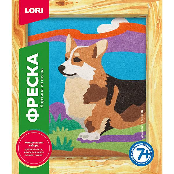 LORI Фреска, Картина из песка Собачка Корги lori фигурки из бисера мышонок
