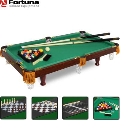 Бильярдный стол Fortuna Пул 3 фута, 4 в 1 с комплектом аксессуаров, Fortuna, артикул:5032449 - Игрушки для мальчиков