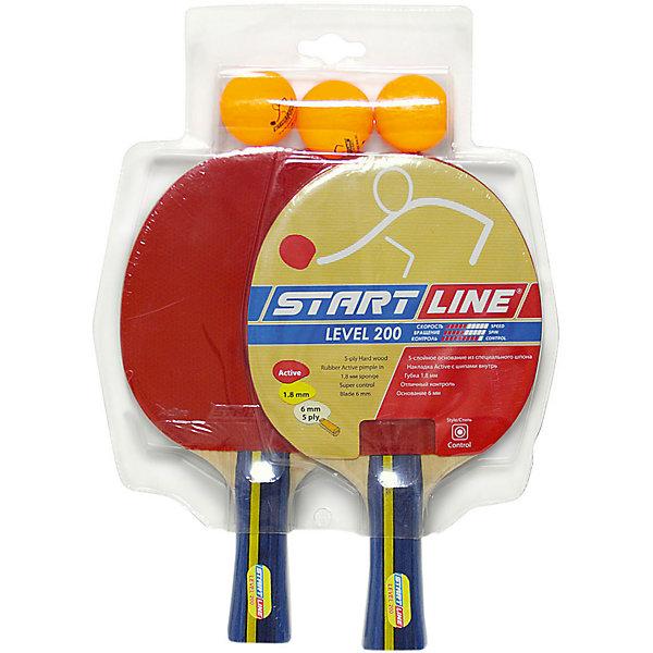 Fortuna Набор теннисных ракеток Level 200 2шт, мячи Club Select, 3 шт
