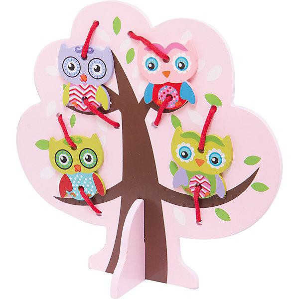 Шнуровка Дерево с совятами, MapachaШнуровки<br>Шнуровки – вид развивающих игрушек, которые обучают ребенка практическим навыкам. Шнуровка научит обращаться со шнурками, завязывать узелки и бантики. Красивый дизайн игрушки, интересный рисунок, экологический материал, яркие цвета и стильный дизайн сделают модель любимой вещицей у малыша. Игрушка тренирует мелкую моторику, аккуратность, а так же тренирует логику и воображение. Материалы, использованные при изготовлении товара, абсолютно безопасны и отвечают всем международным требованиям по качеству.<br><br>Дополнительные характеристики:<br><br>материал: натуральное дерево, текстиль;<br>цвет: разноцветный;<br>габариты: 20 X 1 X 25 см.<br><br>Шнуровку  Дерево с совятами от компании Mapacha можно приобрести в нашем магазине.<br>Ширина мм: 400; Глубина мм: 405; Высота мм: 220; Вес г: 148; Возраст от месяцев: 36; Возраст до месяцев: 84; Пол: Унисекс; Возраст: Детский; SKU: 5032502;