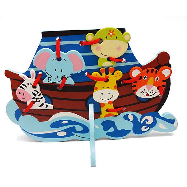 Шнуровка Кораблик, MapachaРазвивающие игрушки<br>Шнуровки – вид развивающих игрушек, которые обучают ребенка практическим навыкам. Шнуровка научит обращаться со шнурками, завязывать узелки и бантики. Красивый дизайн игрушки, интересный рисунок, экологический материал, яркие цвета и стильный дизайн сделают модель любимой вещицей у малыша. Игрушка тренирует мелкую моторику, аккуратность, а так же тренирует логику и воображение. Материалы, использованные при изготовлении товара, абсолютно безопасны и отвечают всем международным требованиям по качеству.<br><br>Дополнительные характеристики:<br><br>материал: натуральное дерево, текстиль;<br>цвет: разноцветный;<br>габариты: 15 X 1 X 27 см.<br><br>Шнуровку Кораблик от компании Mapacha можно приобрести в нашем магазине.<br>Ширина мм: 385; Глубина мм: 445; Высота мм: 330; Вес г: 135; Возраст от месяцев: 36; Возраст до месяцев: 84; Пол: Унисекс; Возраст: Детский; SKU: 5032504;