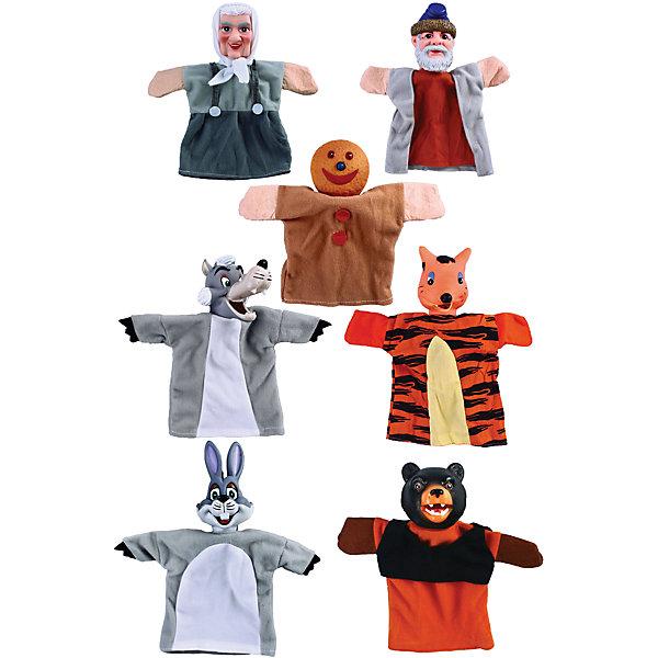 Жирафики Кукольный театр Колобок, 7 кукол, Жирафики игровой набор жирафики кукольный театр спящая красавица 6 предметов 68342