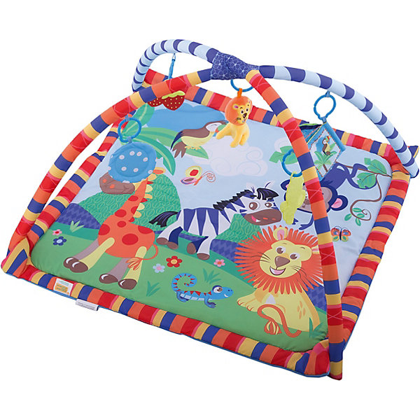 Развивающий коврик «Весёлое сафари», ЖирафикиРазвивающие коврики<br>Развивающий коврик – идеальное место для игры малыша и просто провождении времени вне сна. Коврик сам по себе – развивающая игрушка с множеством интересных и разнообразных деталей. Погремушки, пищалки, зеркальца, звуковые и световые эффекты сделают коврик любимой игрушкой ребенка. Коврик развивает воображение, улучшает координацию и мелкую моторику ребенка. Материалы, использованные при изготовлении товара, абсолютно безопасны и отвечают всем международным требованиям по качеству.<br><br>Дополнительные характеристики:<br><br>материал: текстиль, пластик;<br>цвет: розовый;<br>возраст: 0-12 месяцев;<br>габариты: 80 X 60 X 5 см.<br><br>Развивающий коврик Весёлое сафари от компании Жирафики можно приобрести в нашем магазине.<br>Ширина мм: 610; Глубина мм: 560; Высота мм: 380; Вес г: 1105; Возраст от месяцев: 1; Возраст до месяцев: 36; Пол: Унисекс; Возраст: Детский; SKU: 5032571;