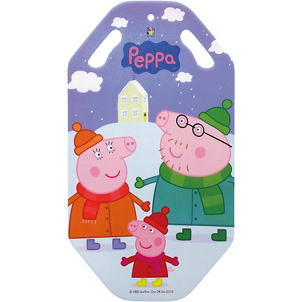 1Toy Ледянка, 92см, Свинка Пеппа, 1toy самокат трехколёсный 1toy свинка пеппа 5 4 розовый