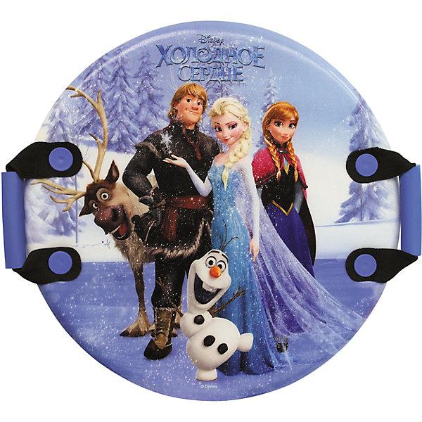Disney Ледянка Холодное сердце, 54см, круглая, с плотными ручками,унив., Disney john ледянка с 2 мя ручками холодное сердце 85 х 52 см с 3 лет