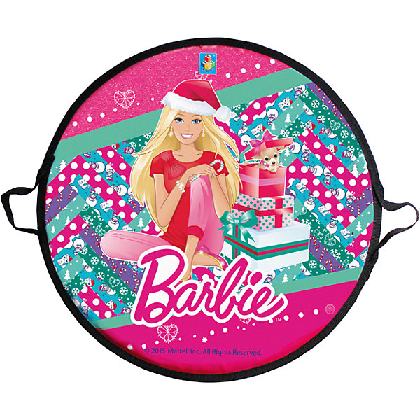1Toy Ледянка, 52 см, круглая, Barbie, 1toy сачок 1toy 70х20 см в ассортименте