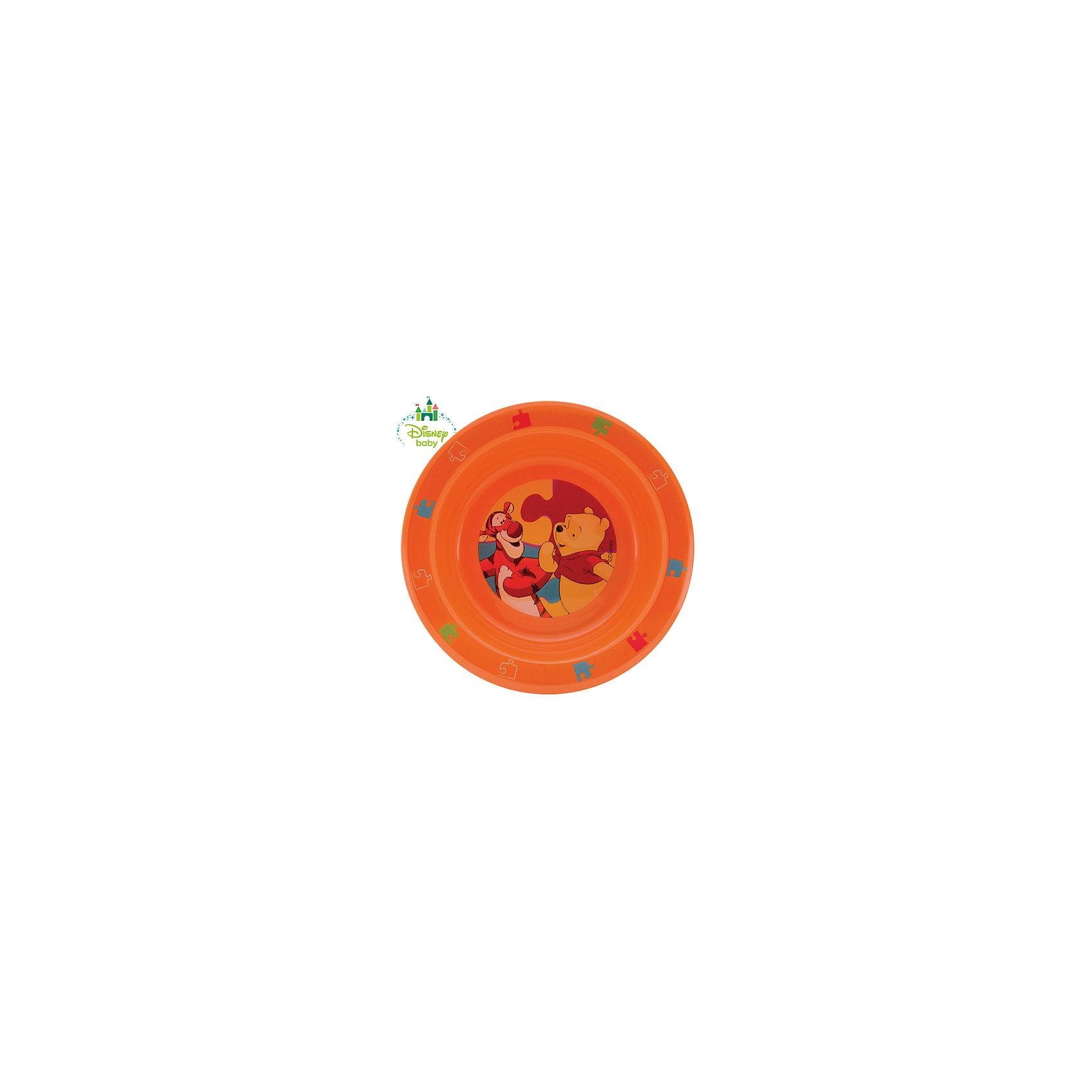 Тарелка Медвежонок Винни DISNEY от 6 мес., LUBBY, оранжевый