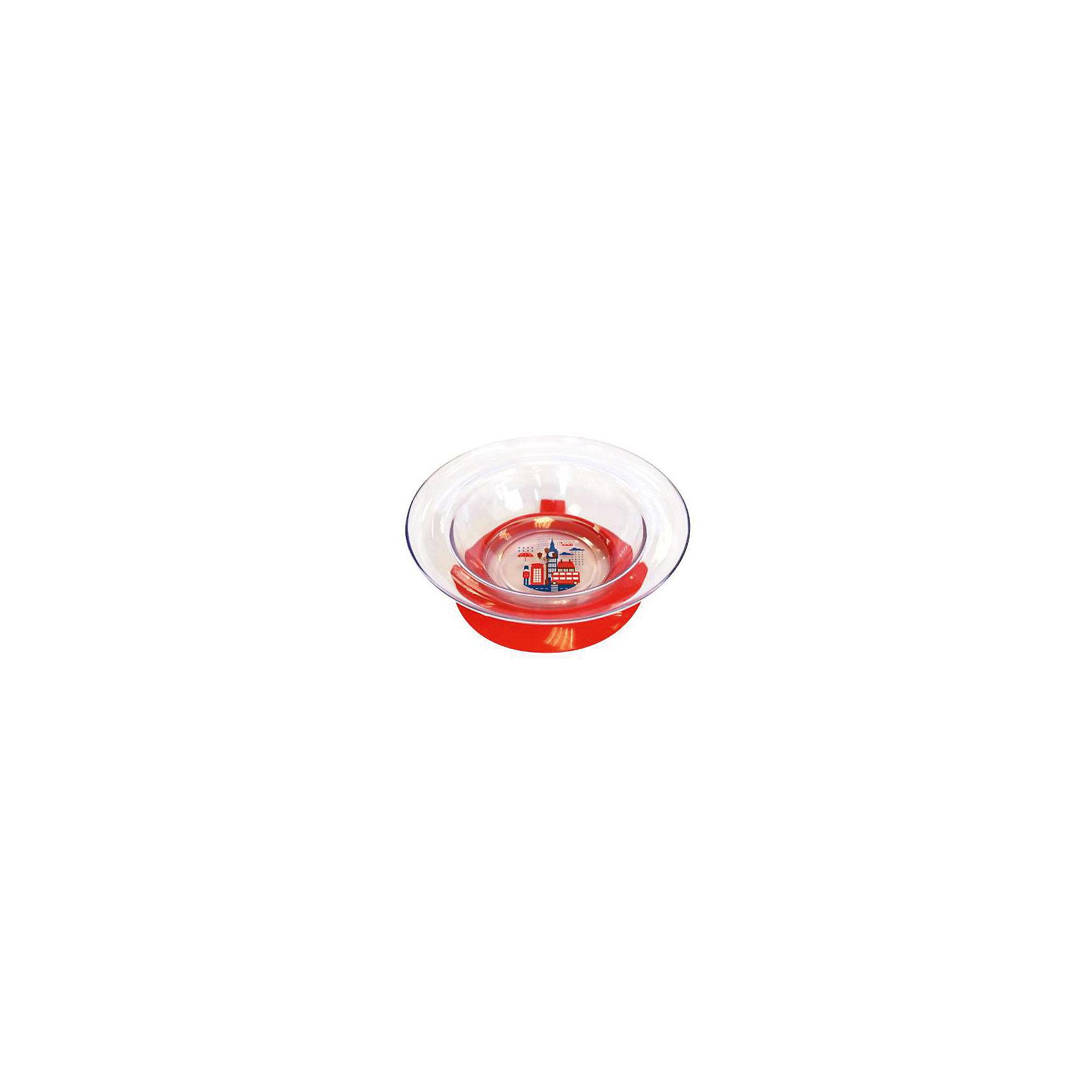 Тарелка Любимая от 6 мес. с присоской, LUBBY, красный