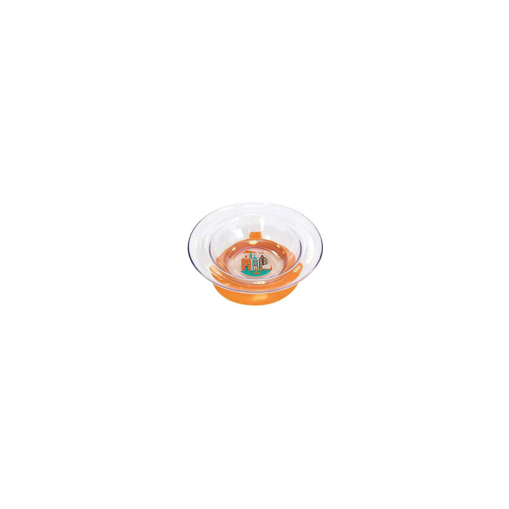 Тарелка Любимая от 6 мес. с присоской, LUBBY, оранжевый