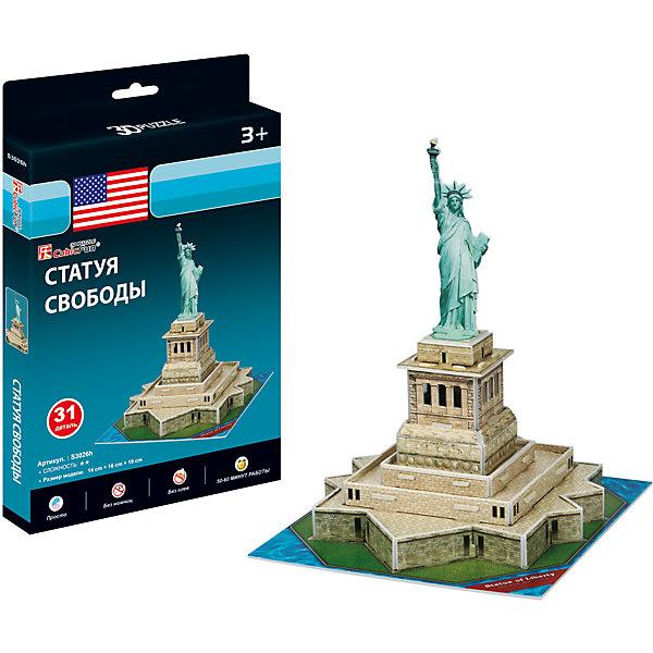 Статуя Свободы, США, CubicFun3D пазлы<br>Характеристики товара:<br><br>- цвет: разноцветный;<br>- материал: ламинированный пенокартон;<br>- комплектация: 31 деталь;<br>- особенности: легко собирается без инструментов;<br>- размер: 19х14х16 см;<br>- размер упаковки: 2х25х16 см;<br>- вес: 130 г.<br><br>Такое увлекательное занятие, как сборка 3D-пазла не оставит ребенка равнодушным! После сборки он получит фигурку одного из знаменитейший зданий в мире! Игрушка отлично детализирована, детали очень качественно выполнены, поэтому она станет отличным подарком ребенку. Для её сборки не нужен клей - достаточно прикрепить детали друг к другу! Такой комплект помогает развить логику, творческие способности ребенка, мышление, внимание, воображение и мелкую моторику.<br>Изделие произведено из высококачественного материала, безопасного для детей.<br><br>3D-пазл Статуя Свободы, США от бренда CubicFun можно купить в нашем интернет-магазине.<br>Ширина мм: 20; Глубина мм: 250; Высота мм: 160; Вес г: 129; Возраст от месяцев: 36; Возраст до месяцев: 2147483647; Пол: Унисекс; Возраст: Детский; SKU: 5039902;
